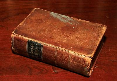 1852 small leather POCKET HYMNAL songs hymns Bible CIVIL WAR carried VT SOLDIER