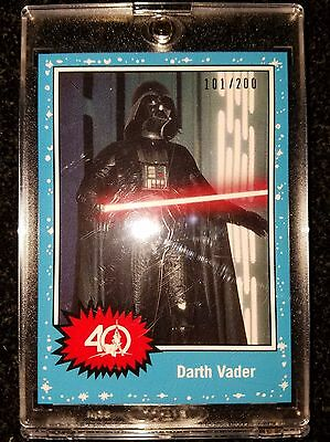 2017 Star Wars Celebration Topps Darth Vader 40th 1977 Exclusive Card 101/200
