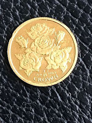 1996 1/25 Gibraltar Crown 24k Gold Coin Britain