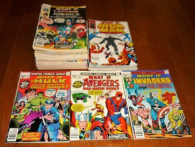 Lot of 53 What If # 2-44, # 1-32, Marvel Comics, 1977-1991, Avengers, Spider-Man