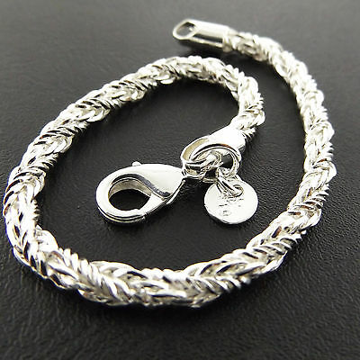A806 Genuine Real 925 Sterling Silver S/f Solid Ladies Antique Bracelet Bangle