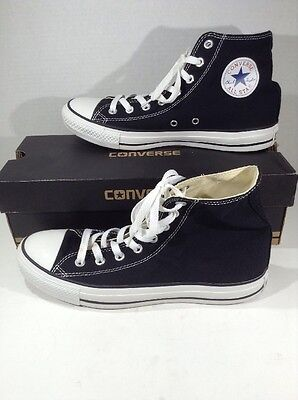 CONVERSE Unisex CT All Star Hi Black Canvas Casual Shoes Size W 10 M 8 ZJ-239