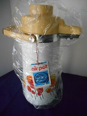 Rare Vintage Retro Air Pump Vacuum Pot Thermos Dispenser Tulip Pattern
