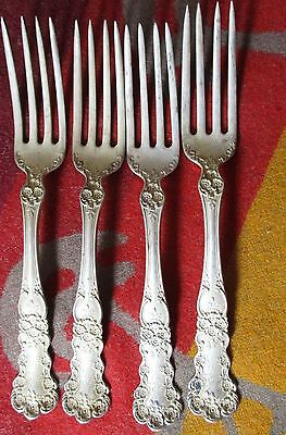 Antique Lot 4 STERLING SILVER FORKS Patented 1900 GORHAM BUTTERCUP 180 GRAMS