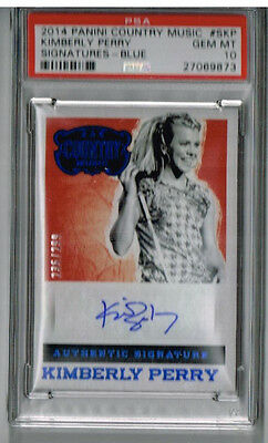 2014 Panini Country Kimberly Perry Signatures - Blue PSA 10 #235/299