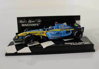 1:43 Fernando Alonso Renault F1 Team R25 2005 World Champion Minichamps