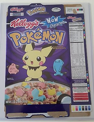 Pokemon Cereal 2001 Limited Edition Cereal Box !
