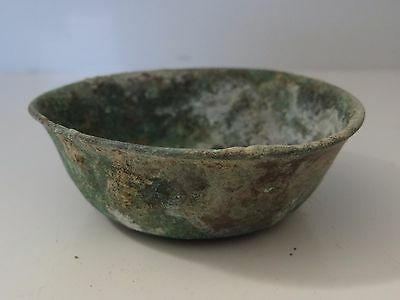 Antique Mongolian Tibetan Buddhist Large Brass Offering Bowl
