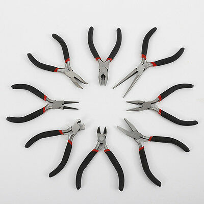 8pcs Mini Pliers Hand Tools Set Industrial Wire Cutter DIY Flat Long Round Nose