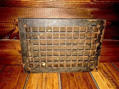 Antique Metal Floor Vent Grate Old Massachusetts Home