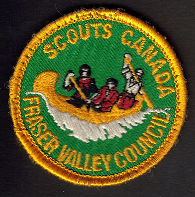 Boy Scouts Canada Fraser Valley Council B.c. Embroidered Patch Canoe