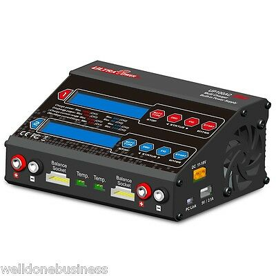 Ultra Power UP100AC DUO Max.100W Balance Charger for Batter with Fan Cooling