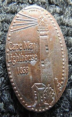 Cape May   LIGHTHOUSE   ,     Elongated Cent         Make  Necklace ?