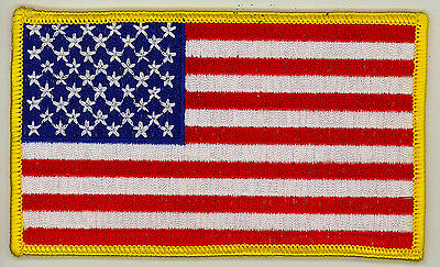 "USA FLAG FULL COLOR Military Patch 3""X4 7/8"""