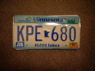 Minnesota Explore       License Plate    Buy All States Here