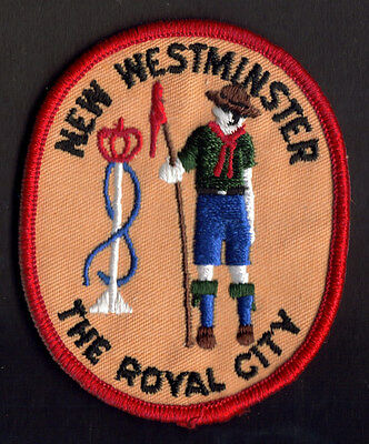 Boy Scouts Canada New Westminster, B.c. Royal City Scout Embroidered Patch