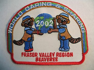 Boy Scouts Canada Beavers 2002 Fraser Valley Beaveree Cubs Embroidered Patch