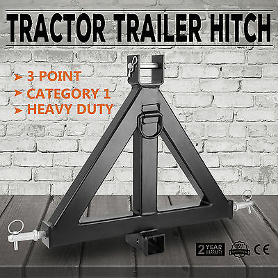 Heavy Duty 3 Point 2'' Receiver Trailer Hitch Tractor Drawbar Category 1 HQ