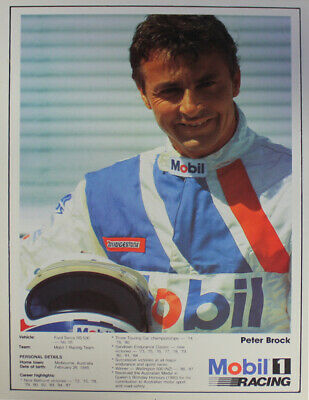 Peter Brock Driver Profile Ford Sierra Group A Specifications Mobil 1 Racing