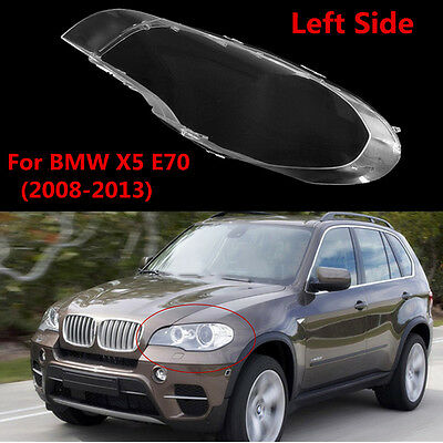 Left Side Clear Lens Shell Cover Headlight Lampshade For BMW X5 E70 (2008-2013)