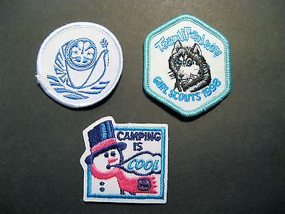 Girl Guides Canada  Scouts Embroidered Patches Peace Camping Is Cool Wolf 1998
