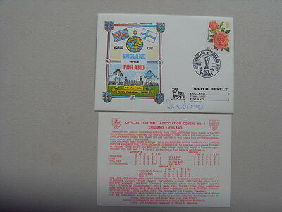 FOOTBALL FDC - ENGLAND v FINLAND - Signed TED CROKER 1976