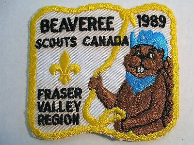 Boy Scouts Canada Beavers 1989 Fraser Valley Beaveree Embroidered Patch