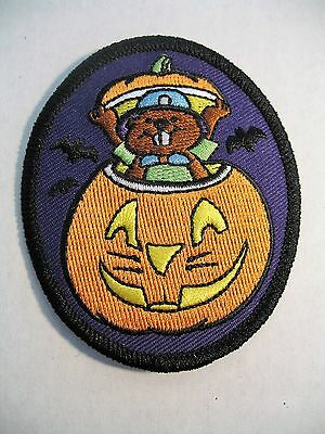 Boy Scouts Canada Beavers Halloween Pumpkin Cubs Embroidered Patch