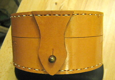 Leather Handmade& Hand Stitched  Fly Reel Case Centerpin Reel Case Custom Made-