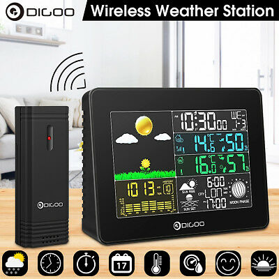 Digoo Color Digital In&Outdoor Hygrometer Thermometer Barometer Weather Station