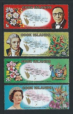 1969 COOK ISLANDS South Pacific Conference Set MNH (SG 306-309)