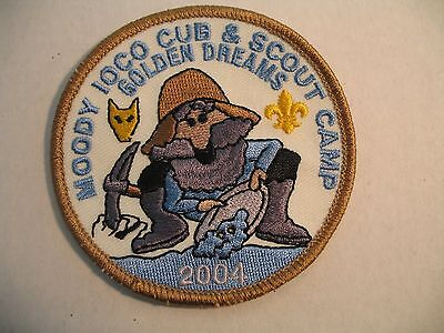 Boy Scouts Canada 2004 Moody Ioco Camp Golden Dreams Patch Cubs Beavers