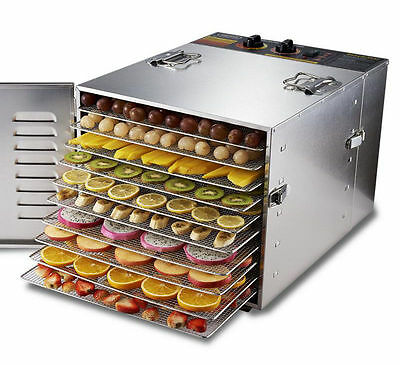 10 Layers Food Dehydrator Fruit Drying Machine Vegetable Dryer Fruit Dryer