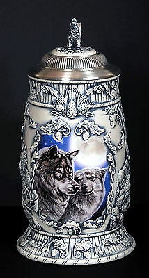 Avon Woodland Serenade Wolves.Lg NEW in Box Beautiful Detail.Numbered#1404. B