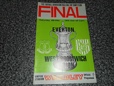 1968 F.A.CUP FINAL : EVERTON  v  WEST BROMWICH ALBION @ WEMBLEY - MAY 18th