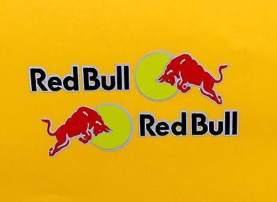 Pair Red Bull Racing Reflective Decal Universal Car Sticker H: 3cm x W: 11cm
