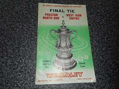 1964 F A CUP FINAL :  PRESTON NORTH END  v  WEST HAM UNITED @ WEMBLEY ~ MAY 2nd