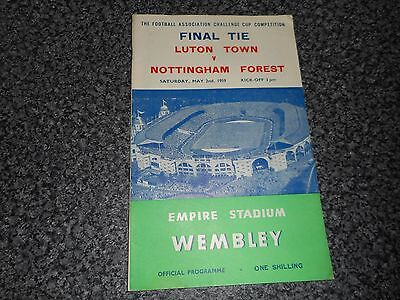 1959 F A CUP FINAL :  LUTON TOWN  v  NOTTINGHAM FOREST @ WEMBLEY ~ MAY 2nd