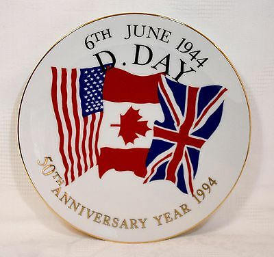 Vintage 50th Anniversary of D-Day 1994 Plate - Kirkholme Collectables