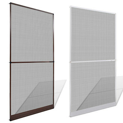 Brown Hinged Mesh Screen Door Anti-insect Fly Mosquito Fiberglass Net Multi Size