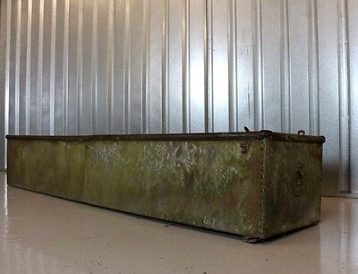 Vintage Architectural Galvanised 8FT Roll Top Water Trough / Garden Planter