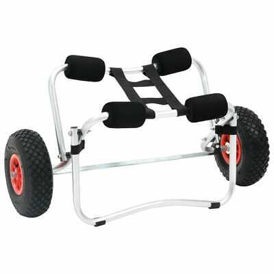 New Kayak Trolley Canoe Aluminium Collapsible Wheel Cart Boat Carrier Foldable
