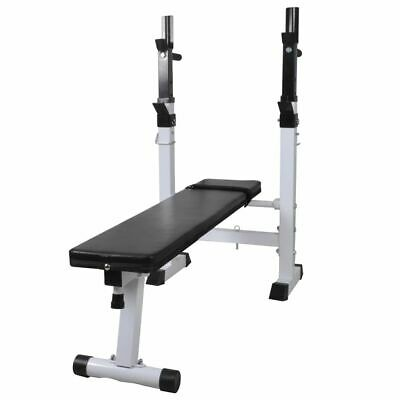 vidaXL Weight Bench Adjustable Fitness Home Multi Gym Flat Incline Squat Rack