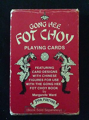 Extremely Rare Complete Gong Hee Fot Choy Fortune Telling Cards Game & Book Set