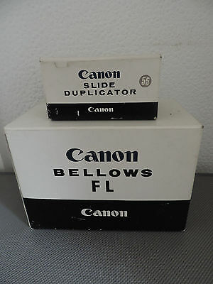Canon Bellows FL & Slide Duplicator with 55mm ring BOTH UNUSED