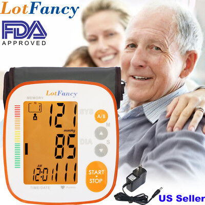 Automatic Upper Arm Blood Pressure Monitor BP Cuff Gauge Machine Backlit Meter
