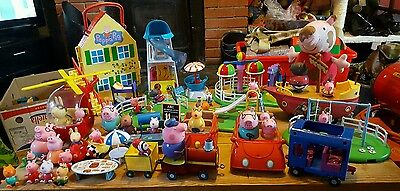 Massive Peppa Pig bundle, fairground, boat, house, figures etc