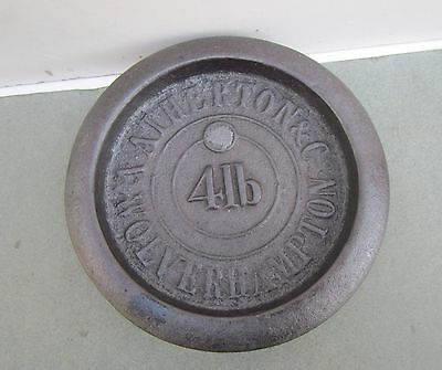 Old 'A.Atherton & Co, Wolverhampton' 4LB Cast Iron Weight