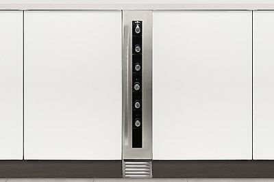 Caple Wi155 undercounter single zone stainless steel wine cabinet - 08738