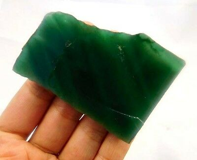 285 Cts. 100% NATURAL GREEN JADE SLAB ROUGH MINERALS SPECIMEN AE905